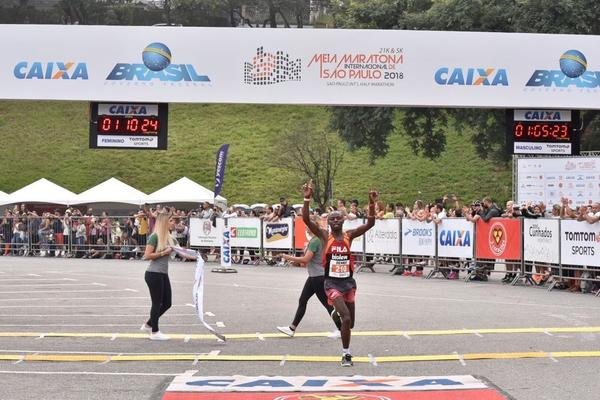 Joziane Cardoso garante o tri na Meia  Maratona Internacional de S&#227;o Paulo<