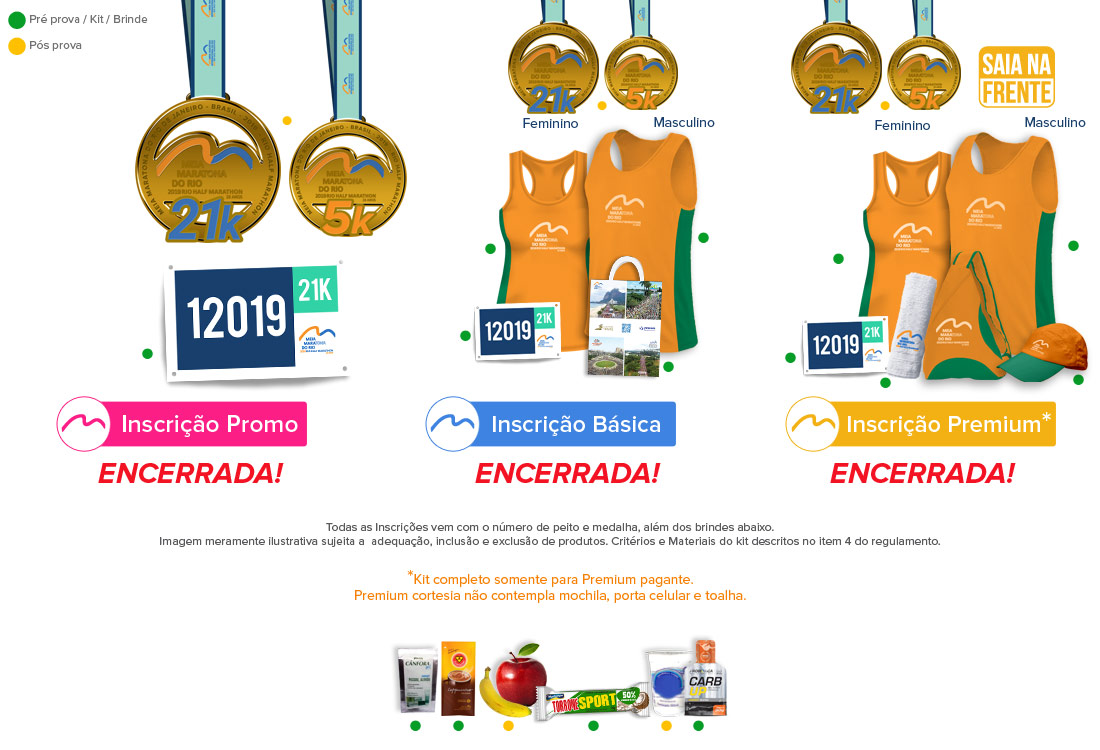 Kit Meia Maratona do Rio de Janeiro 2019