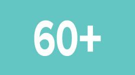 60 anos e acima