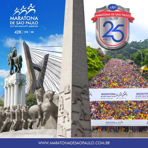 Maratona Internacional de S&#227;o Paulo 2019 ser&#225; no dia 7 de abril<